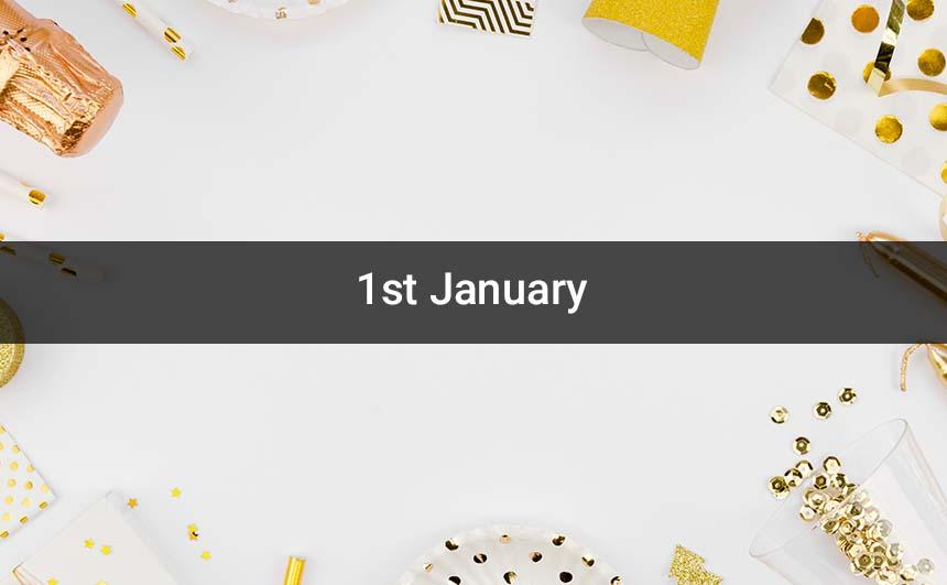 Happy 1st January