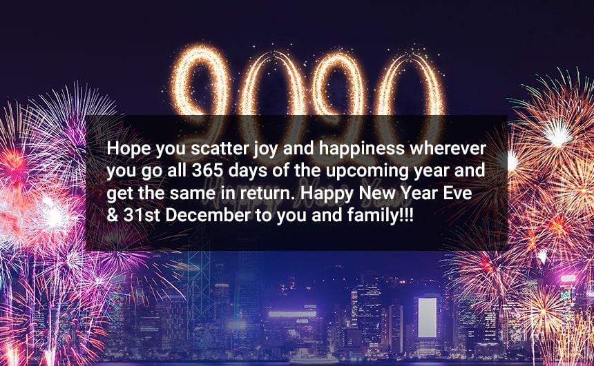 Happy 31st December Messages