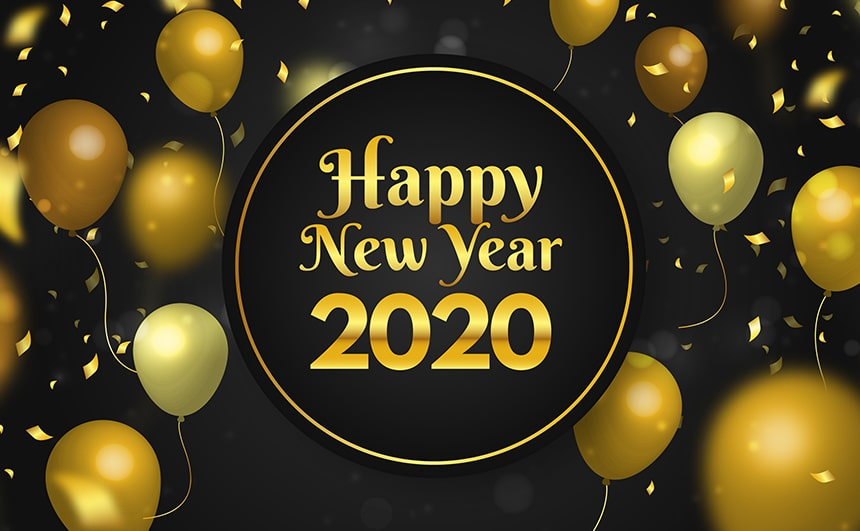 Happy New Year 2020 Greeting Cards Gift Cards Ecards