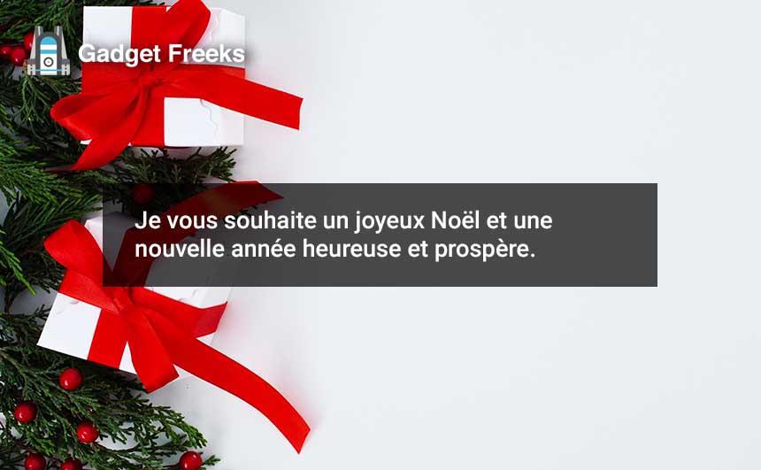 Joyeux Noël Voeux 2019