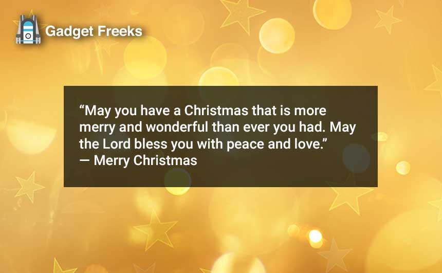 Merry Christmas Captions