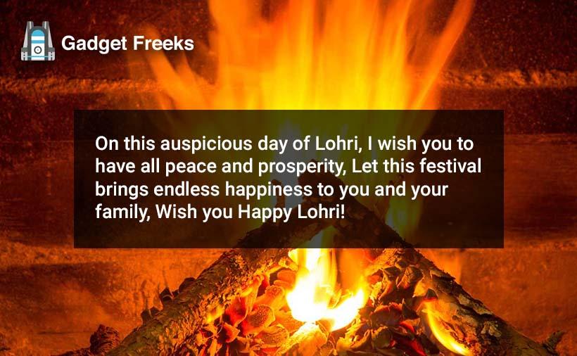Happy Lohri Wishes for Family