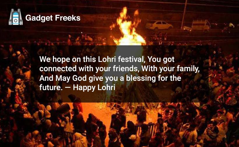 Happy Lohri Wishes for Friends & Family
