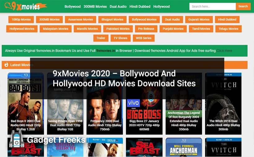 9xMovies (2020) Website: Bollywood And Hollywood HD Movies Free Download