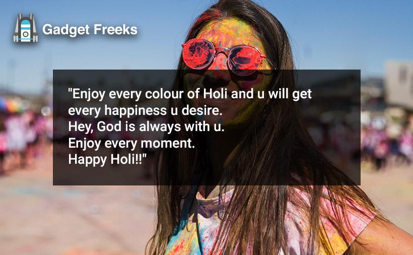 Happy Holi Caption