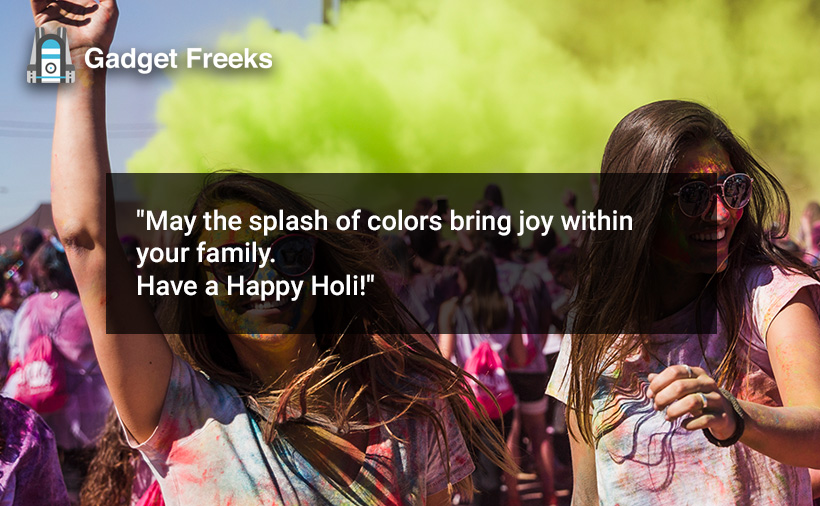 Happy Holi Wishes for Friends & Family