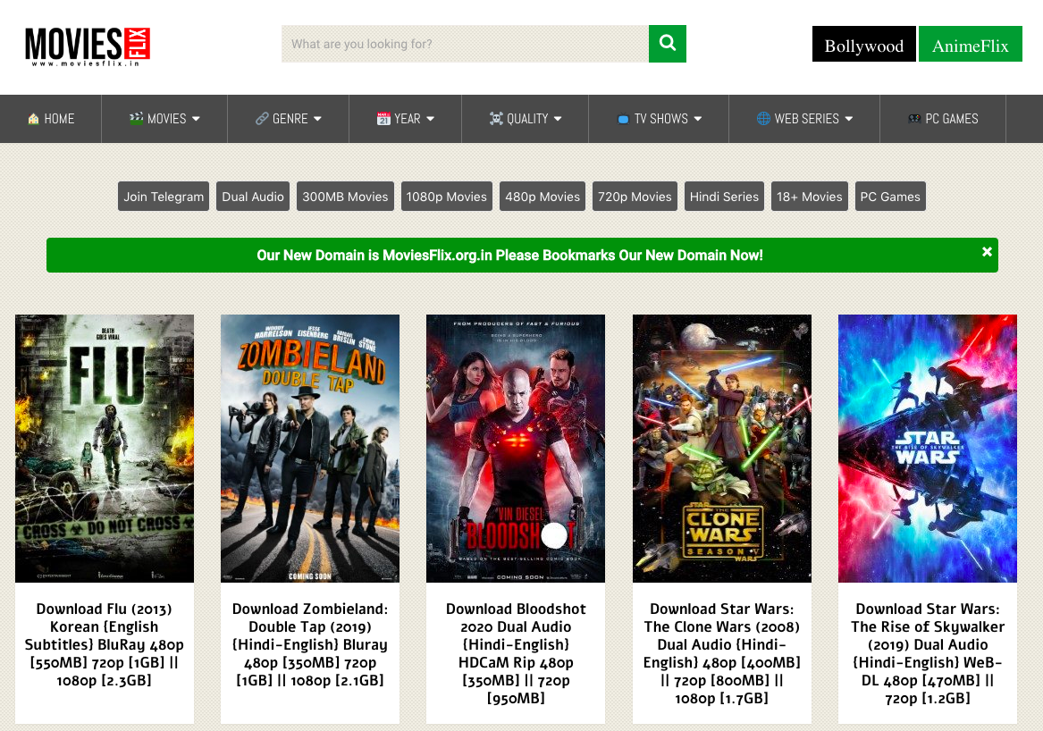 Moviesflix 2020 480p 720p 300mb Hindi Dubbed Dual Audio Movies