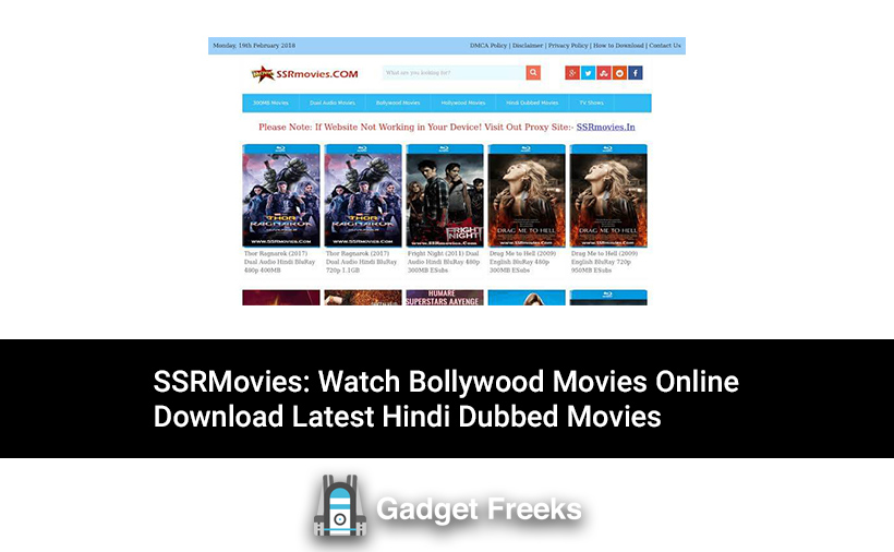 ssr all movie category