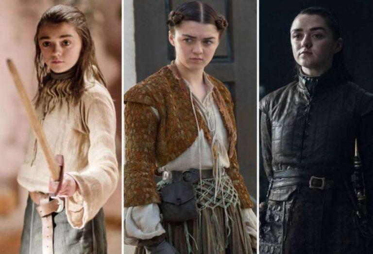 Arya Stark played by Maisie Williams