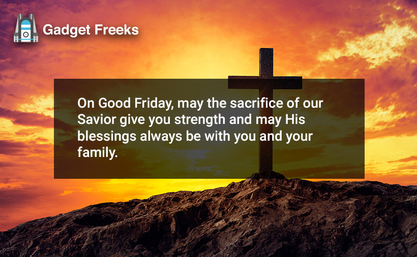 Good Friday Greetings for Friends & Family