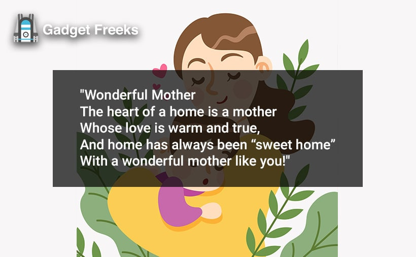 Mother's Day Poems for Mom